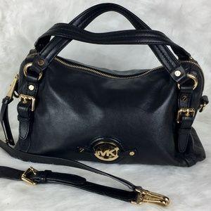 Michael Kors Black Satchel Bag w/ Gold Hardware